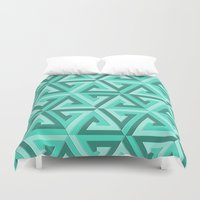 lv Duvet Covers featuring Geometrix LV by Warwick Wonder Works