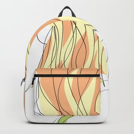 One-Line Art Woman Short Hairstyle Backpack