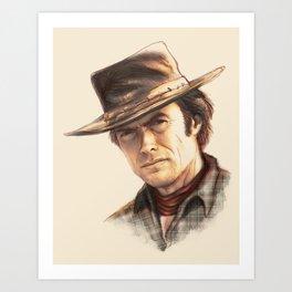 Clint Eastwood tribute Art Print