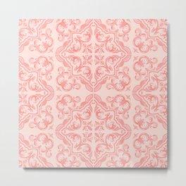 Decorative Tiles / Vintage Summer Pink Metal Print