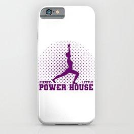 Fun Gymnast Gift Idea Fierce Litte Power House Gymnast iPhone Case
