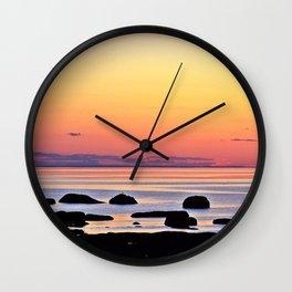 Yellow Skies of Summer Wall Clock