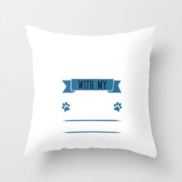 I Workout to Keep Up with My Border Collie T-Shirt Throw Pillow
