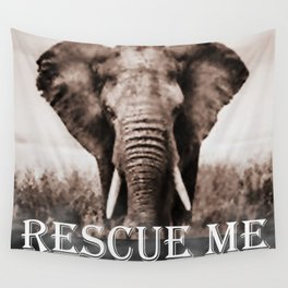 Elephant Rescue Wall Tapestry