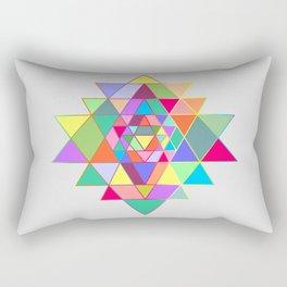 Sri Yantra triangles Rectangular Pillow