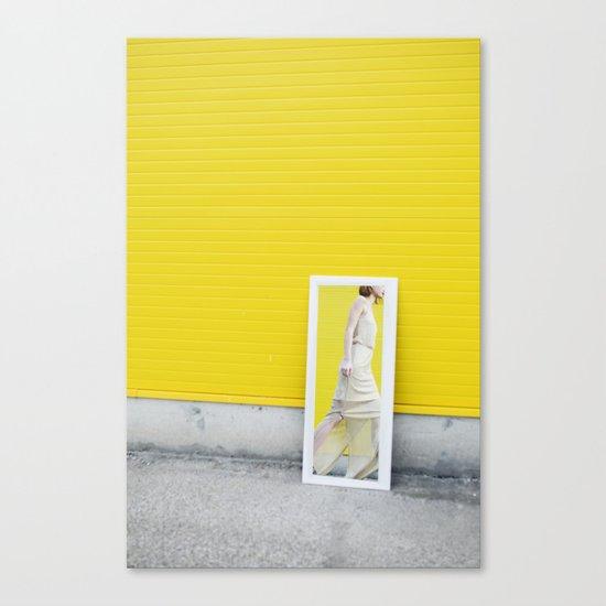 Yellow fashion Canvas Print