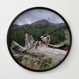 Charlotte in Muldoon Canyon Wall Clock