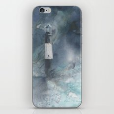 Night Storm at Tybee Lighthouse iPhone & iPod Skin