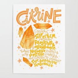Citrine Poster