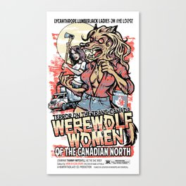 Werewolf Women of the Canadian North Canvas Print