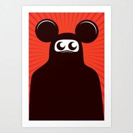 Niqab mouse Art Print