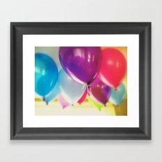 Happy Birthday Balloons Framed Art Print