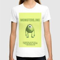 monster inc T-shirts featuring Monsters, Inc by FunnyFaceArt