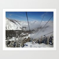 skiing Art Prints featuring Skiing by Bryden McDonald
