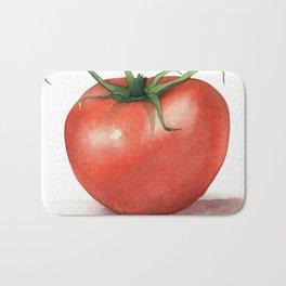 Tomato Watercolor Bath Mat