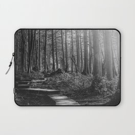 Adventure Nature Path Black and White Laptop Sleeve