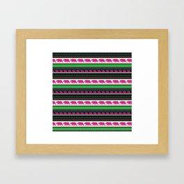 Bear Pattern Framed Art Print