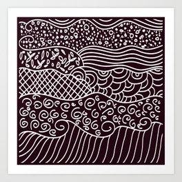 different shapes Art Print