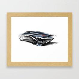 B M W Butt Framed Art Print