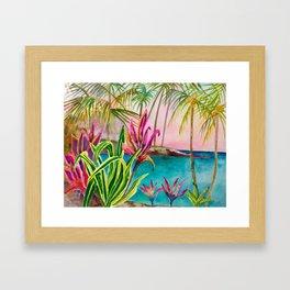 Mauna Lani Beach Framed Art Print