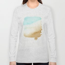 Sea And Beach Watercolor Shade - Water And Sand Long Sleeve T-shirt