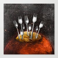 mars Canvas Prints featuring Mars by acefecoo
