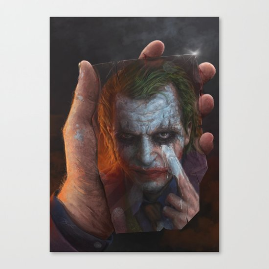 The Joke Canvas Print