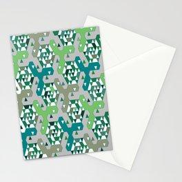 Geometric Mozaik (green) Stationery Cards