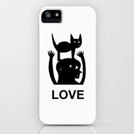 Cat On My Head iPhone Case