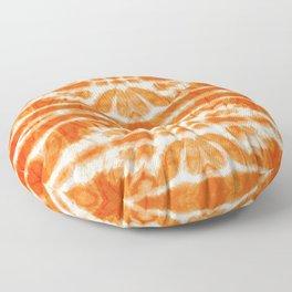 Orange Tie-Dye Twos Floor Pillow