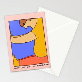 Don't get fat in quarantine Stationery Cards