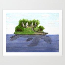 Turtle island Art Print