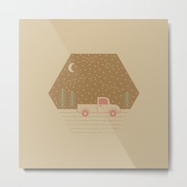 Vintage Happiness on a Dirt Road Metal Print