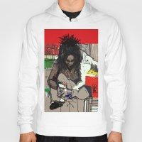 basquiat Hoodies featuring Basquiat by Helen Syron