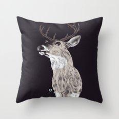 Deer (remindeer) Throw Pillow
