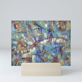 Dragonflies in blue Mini Art Print