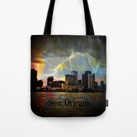 new orleans Tote Bags featuring New Orleans by Kelly King