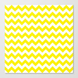 Yellow Chevron Canvas Print