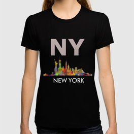 NY-New York Skyline HQ T-shirt
