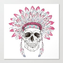 INDIAN---SKULL Canvas Print