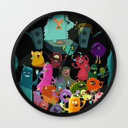 The mezcal monsters Wall Clock