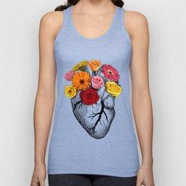 Flower Heart Unisex Tank Top