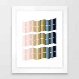 Ombre Trio Framed Art Print