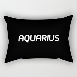 AQUARIUS (BLACK) Rectangular Pillow