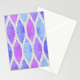 Periwinkle Watercolour Scales Stationery Cards