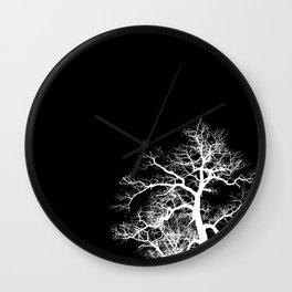 Dark Tree Wall Clock