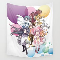 madoka magica Wall Tapestries featuring Puella Magi Madoka Magica - Only You by Yue Graphic Design