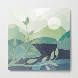 Peaceful Lake View 2 Metal Print