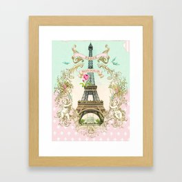 Bonjour Paris Framed Art Print