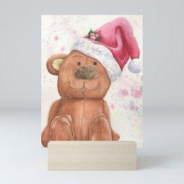Christmas Teddy Bear Mini Art Print